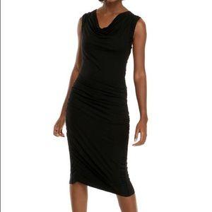 Sleeveless Cowl Neck Jersey Dress